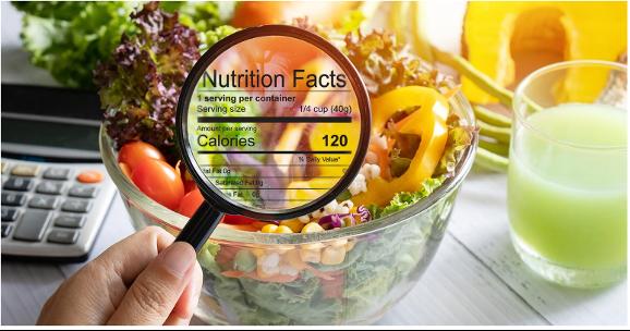 Healthy symbol in packaged food